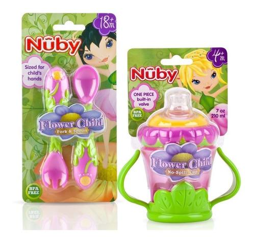 Set De Alimentación Nuby Niñas - Flores X 3 Unds