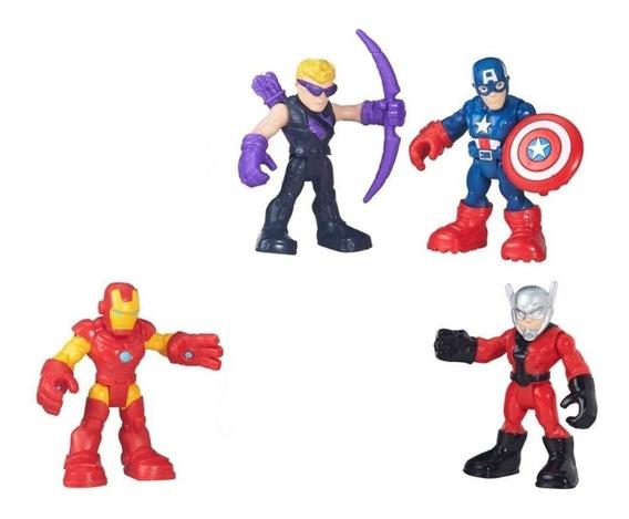 Bonecos Marvel Playskool Vingadores Valor P/ 1 Novos E Loose