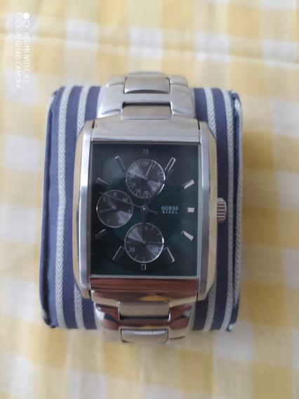 Relógio Guess G95343g 100% Original Analógico Pulseira Aço