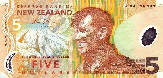 Nova Zelândia - Cédula De 5 Dólares De 2.04 - Mbc (rugas)