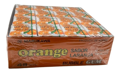 Imagem 1 de 3 de Chiclete Marble Gum Orange Laranja 4ball Marukawa