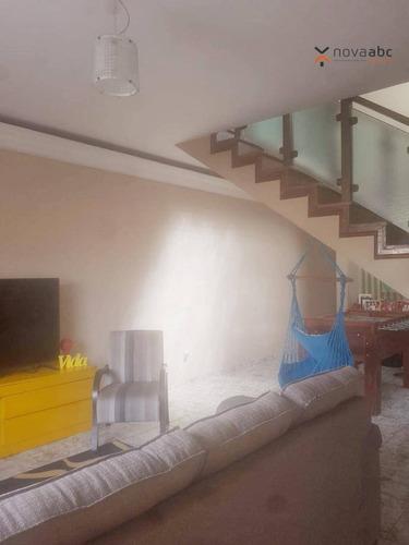 Imagem 1 de 28 de Sobrado Com 3 Dormitórios À Venda, 197 M² Por R$ 680.000 - Parque Marajoara - Santo André/sp - So0978