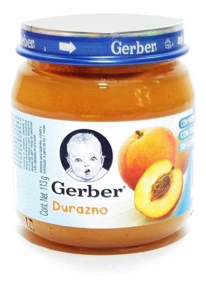 Gerber 2a Etapa Alimento Infantil Durazno De 113 Gr