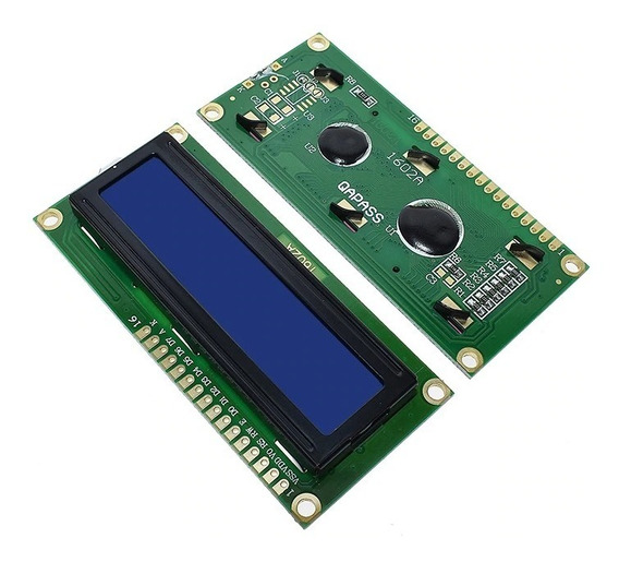 Display Lcd 16x2 1602 Fundo Azul Arduino