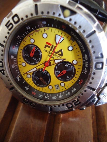 Relógio Cronógrafo Fila Original Impecável Top Importado