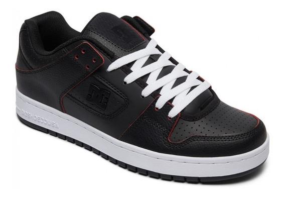Zapatillas Dc Shoes Manteca Se Negro Costuras Rojo