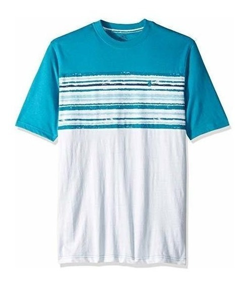 Izod Big Fit Saltwater Striped Playera L