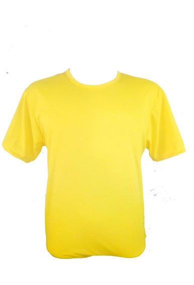 Camiseta Amarela 100% Poliéster Para Sublimação Kit Com 100