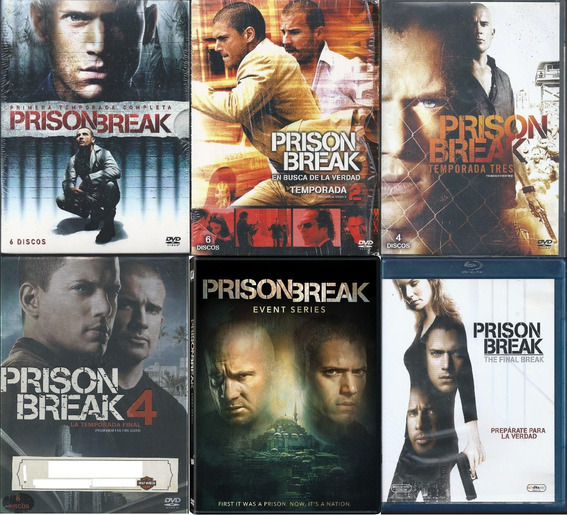 Prision Break 5 Temporadas Serie Completa Dvd+películabluray