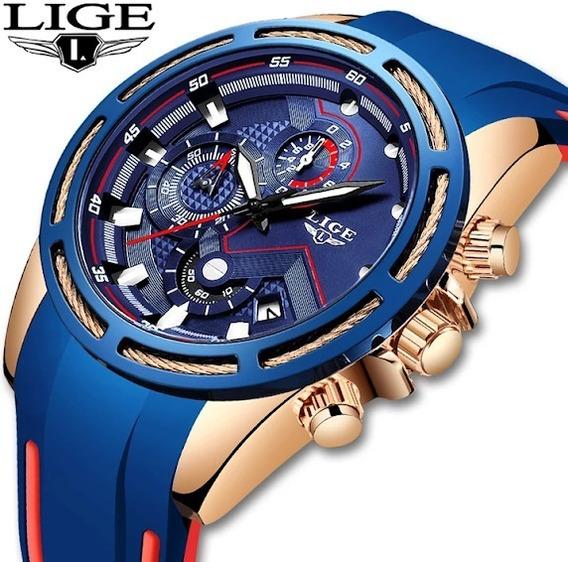 Relógio Masc.lige 9957 Luxo Esportivo-original-super Oferta