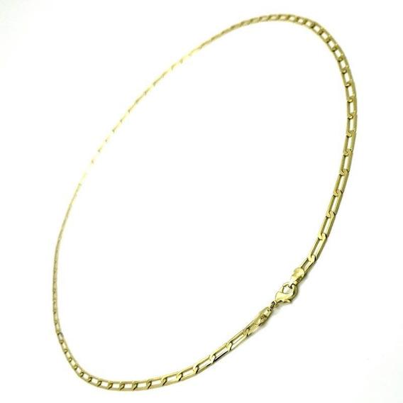 Corrente Masculina 70cm Banho De Ouro 18k 3518