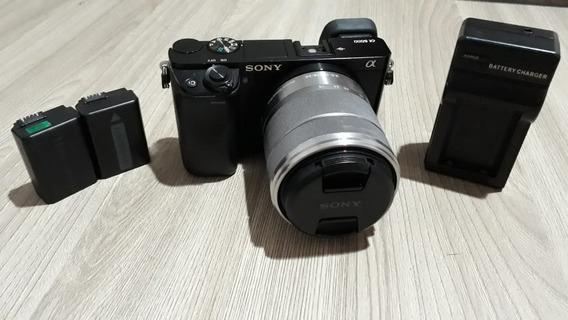 Sony A6000 + Lente Sony 18-55mm Não É 6300 6400 6500