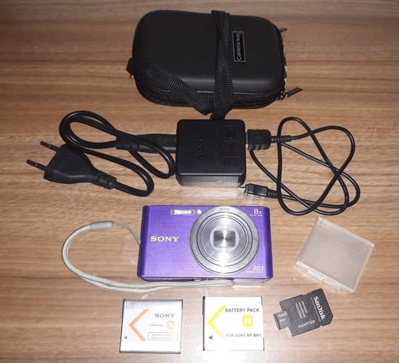 Camera Sony Cyber-shot Dsc W830 20.1 M + Micro Sd 8gb!