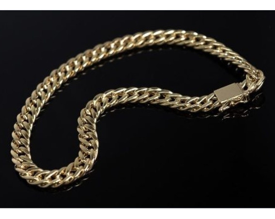 Pulseira Elo Duplo 4.50mm Largura Ouro 18k 23cm 5.33 Gramas!