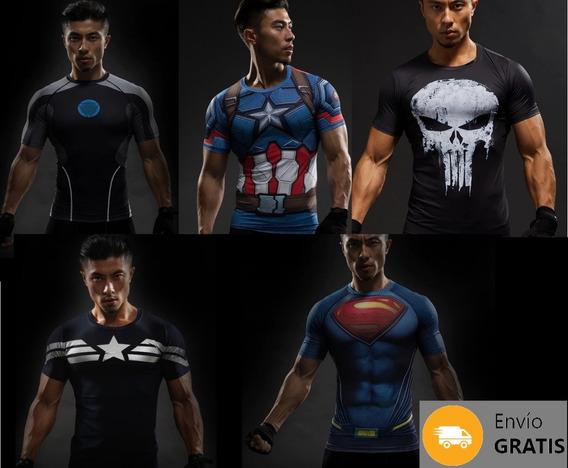 Playera De Compresión Hombre Panther 3d Super Héroes