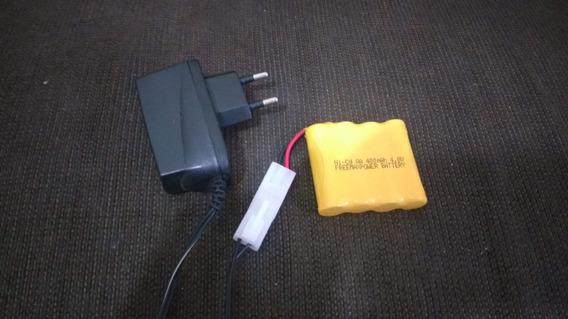 Carregador E Bateria 4.8 V Para Carro De Controle Remotos