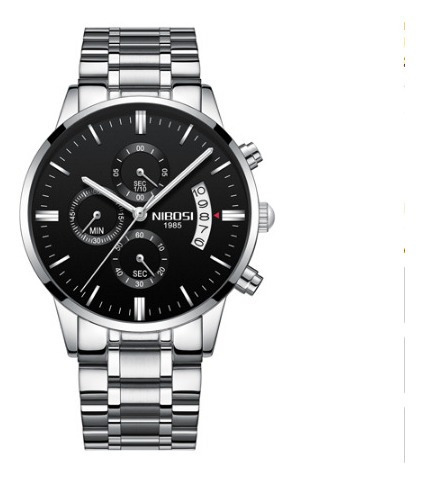 Relógio Original Nibosi Executivo Funcional Barato