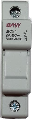 Portafusible 10x38 Monopolar Sf25-1 25a 400v Baw