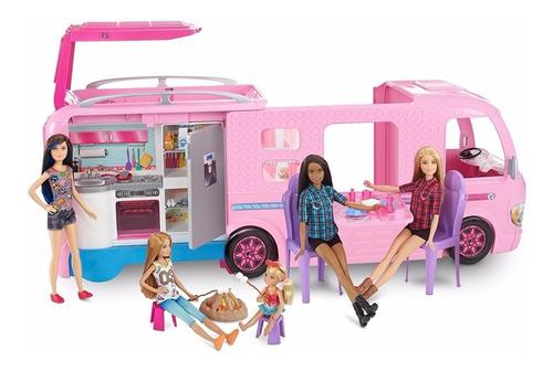 Barbie Caravana Camper Mattel Fbr34 Camioneta Camping Niña