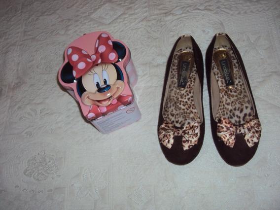 Sapato Infantil Linda Luz Tam 35 + Lancheira Da Minnie. =r