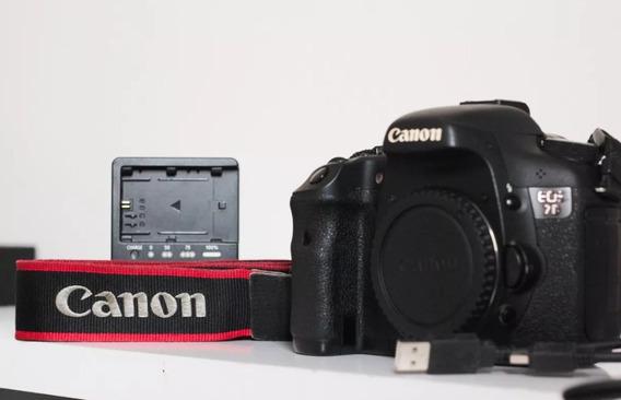 Câmera Canon Eos 7d + Cartão De Memória De 16gb