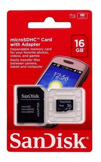 Cartão De Memória Micro Sd Sandisk 16gb Original