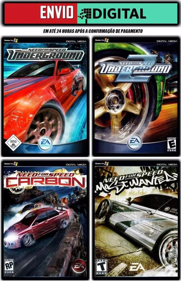 Need For Speed Collection - 4 Games Para Pc - Envio Digital