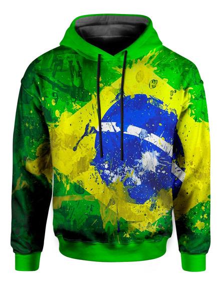 Moletom Com Capuz Unissex Brasil Md01