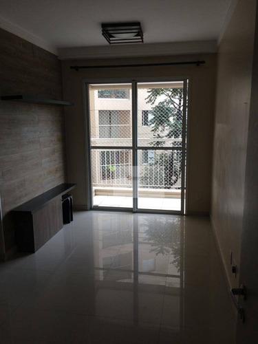 Excelente Apartamento Com 2 Dormitórios, Sacada E 1 Vaga Na Vila Guarani - Ap0217