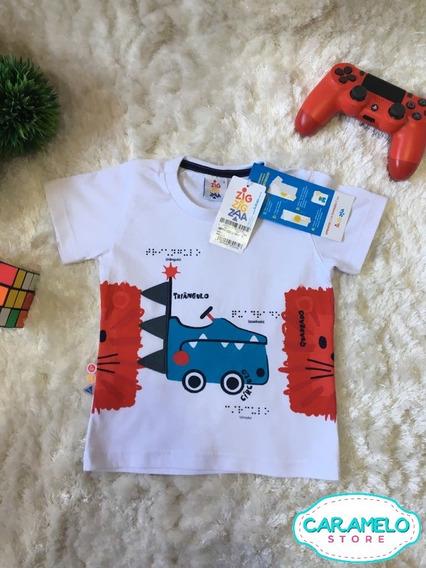 Camiseta Infantil Bebe Menino Menina Zig Zig Za Tam 1
