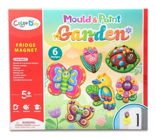 Set De Arte Cerámica Y Pinturas Garden Insectos Niños