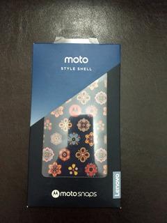 Moto Snap Shell Flores Motorola Novo Modelo 2019