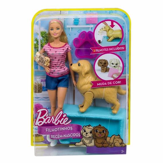 Boneca Barbie Filhotinhos Recém Nascidos - Fbn17 Sem Juros