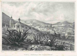 Lienzo Tela Grabado Nebel Vista Zacatecaz México 1836 50x68