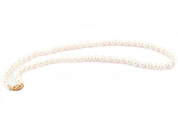 Collar De Perlas Akoyas Con Oro De 14k (27179)