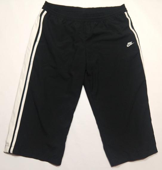 Pantalon Capri Nike Microfibra Talle M Negro Y Blanco
