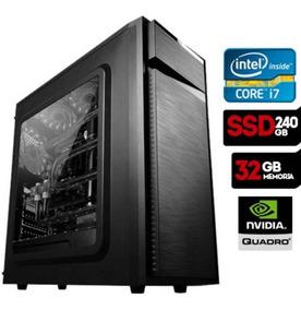 Intel I7, 32gb Ram, Ssd 240gb, Hd 1tb, Quadro M2000+g27