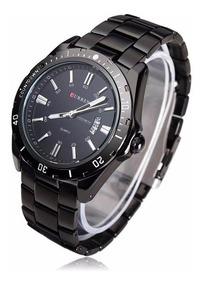 Relógio Curren Masculino Preto - Original 8110