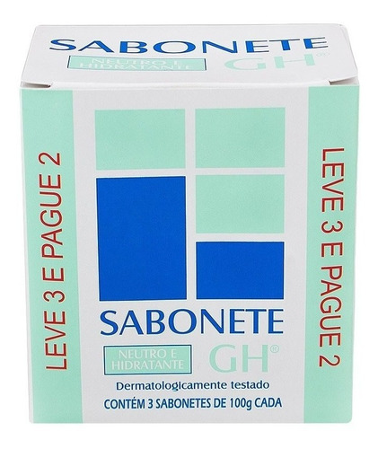 Kit Leve 3 E Pague 2 Sabonete Gh Neutro Hidratante 100 G