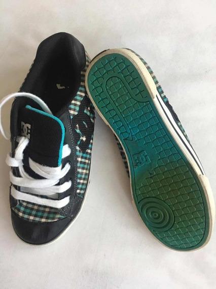 Dc Shoes Tenis Unisex Color Verde Con Negro 26.5 Mex