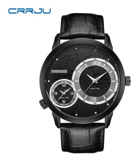 Relógio Masculino Esportivo Social Crrju 2131 Elegante Couro