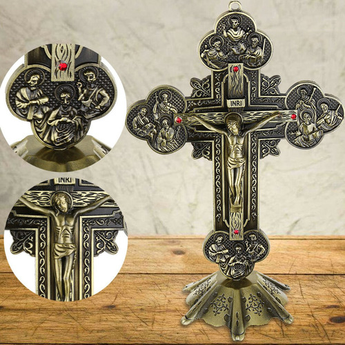 Imagen 1 de 10 de Pared C De Pie Del Altar Religioso Católico Inri De Bronce A