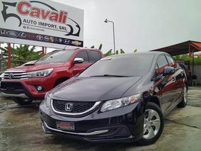 Honda Civic Lx Negro 2013