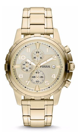 Reloj Fossil Fs4867 Dean Chronograph Stainless Steel Hombre