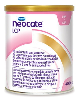 Leite Neocate Lcp 4 Unidades 400 Gr