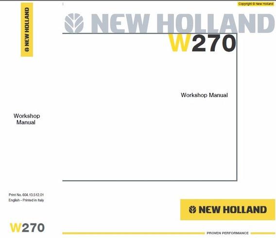 Manual De Serviço - New Holland - W270
