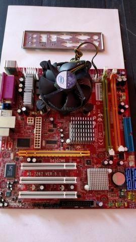 Kit Upgrade Placa Mãe Positivo Processador  Dual Core
