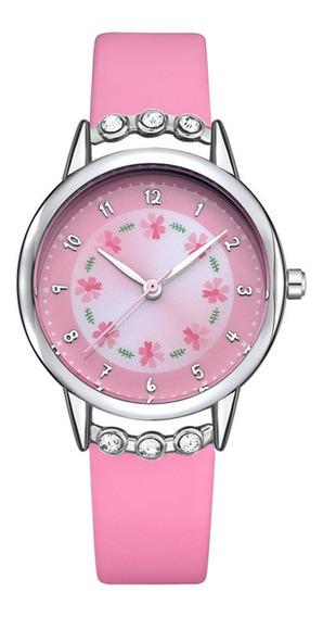 Relógio Feminino Infantil Crianças Meninas Relógio De Pulso