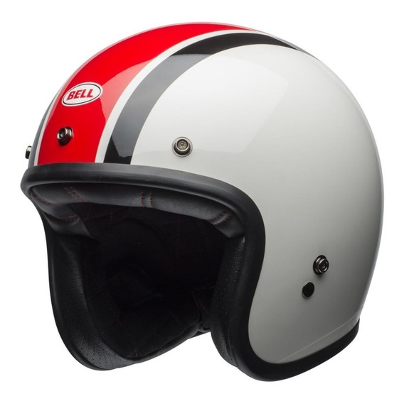 Capacete Bell Custom 500 Ace Cafe Stadium White Black Red
