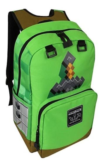 Mochila Minecraft Verde Espada